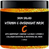 SkinSalad Vitamin C Face Mask with Grapefruit, Orange and Licorice Extract, Collagen boosting, Anti-aging, Glowing and Whitening Gel Face Mask No Paraben 100ML
