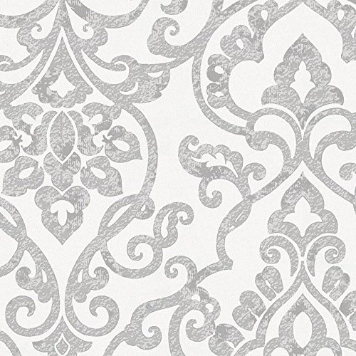 Carousel Designs Gray Filigree Fabric by The Yard - Organic 100% Cotton