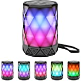 LED Portable Bluetooth Speakers with Lights, LFS Night Light Waterproof,Speakers Color Change Computer Speaker,Mic TF…