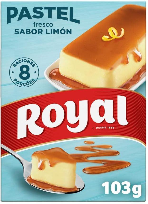 Royal Pastel Fresco Sabor Limón con Caramelo Líquido 8 ...