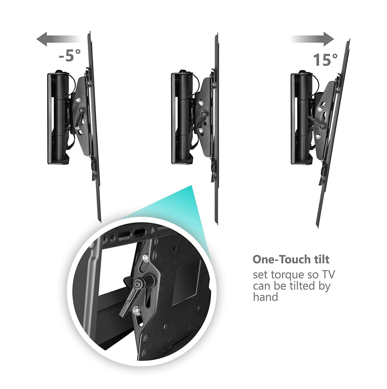 ONKRON Supporto per TV da parete per schermi 40 a 60 Pollici Montaggio TV a Muro per LCD LED QLED VESA 600 x 400 mm fino a 68 kg M7L