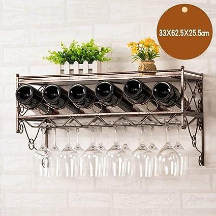 Willsego Estante para Vino Colgante Estante para Vino Estante para Colgar en Vidrio para Vino,