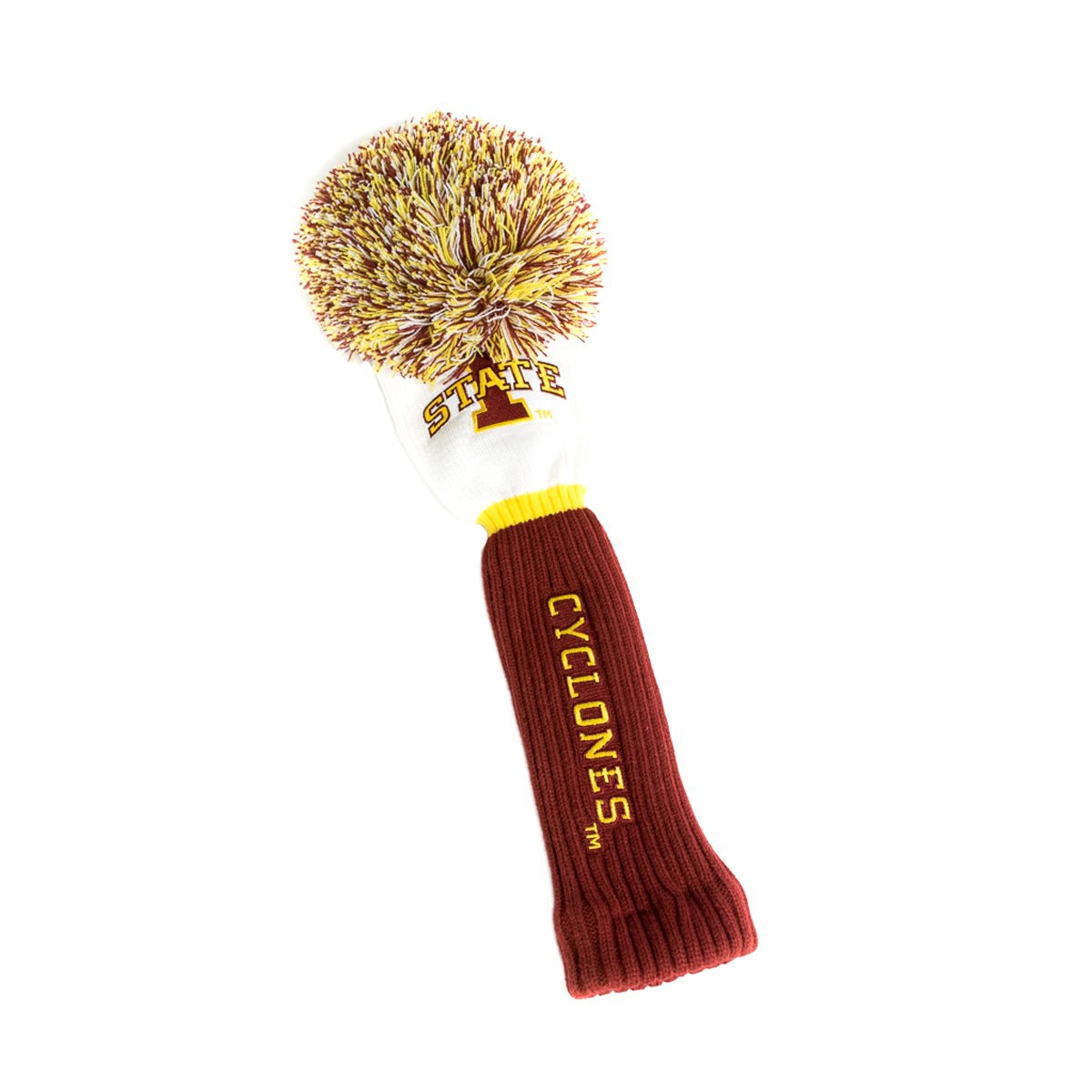 NCAA Iowa State Cyclones Pom Driver Head Cover, White