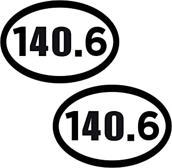 140.6 Full Triathlon Oval Car Magnet