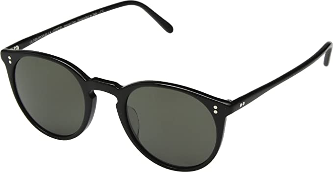 2738a917ee3 Oliver Peoples OV5183S 1005P1 Black O Malley Sun Round Sunglasses Polarised  Len