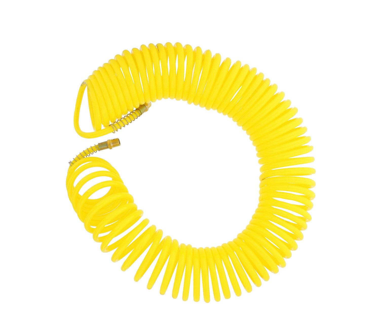 ABN Recoil Hose, 1/4'' Inch x 50' Feet – Portable Polyurethane Coil Hose for Air Compressor, Nailer, Sprayer, Staple Gun