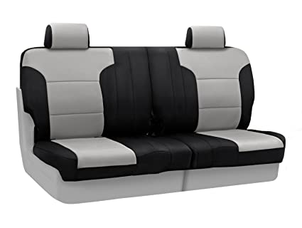 Fabulous Coverking Custom Fit Rear 50 50 Split Bench Seat Cover For Select Toyota 4Runner Models Neosupreme Gray With Black Sides Caraccident5 Cool Chair Designs And Ideas Caraccident5Info
