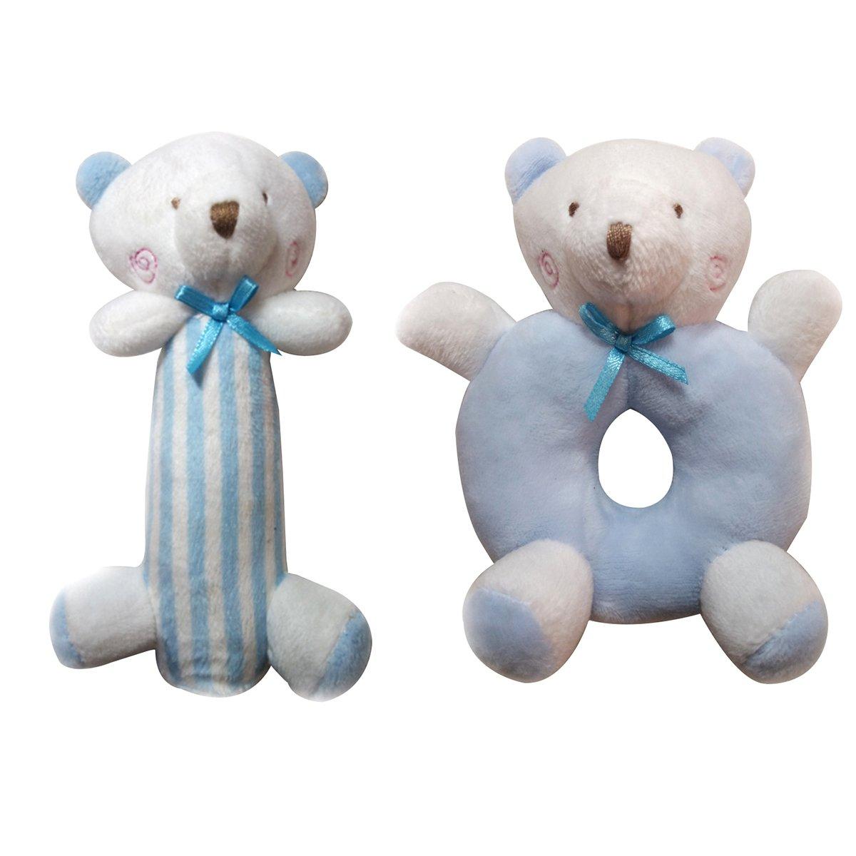 Yeahibaby Sonajero para bebés Peluches felpa Recién nacidos Cuna Juguete Anillo redondo Conejos Conejito Regalos únicos para duchas (Azul): Amazon.es: ...