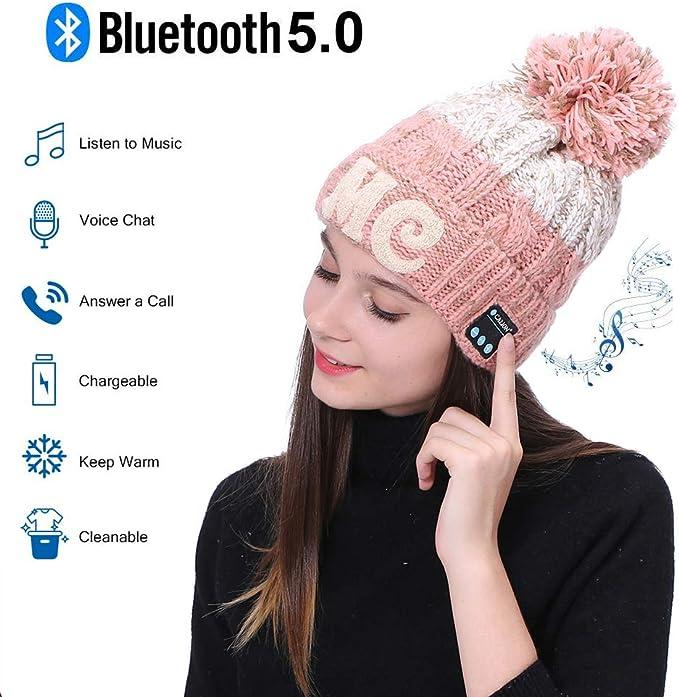 YC Bluetooth Hat Bluetooth Beanie Hat, Bluetooth V5.0 Music Beanie ...