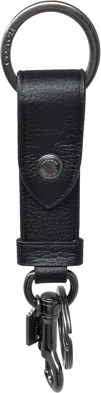 Coach Valet Black Leather Key FOB F37533
