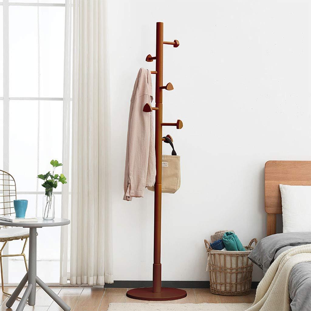 Piso de madera Inicio dormitorio Coat rack sala vertical ...