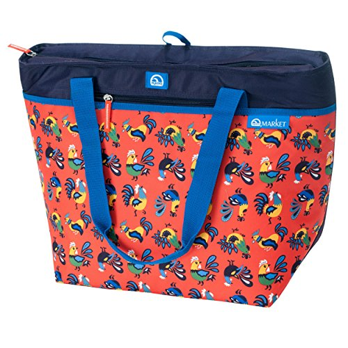 Igloo Women's 56 Can Capacity Thermal Tote, Paprika Roosters (Igloo Cooler Car)