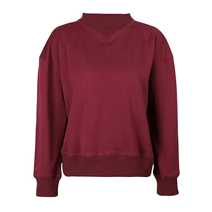 WanYang Mujer Sudaderas Moda Manga Larga Blusa Moda Cortas Otoño Invierno Tops Pullover Sweatshirt