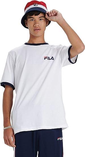Fila de los Hombres Camiseta Rosco, Negro: Amazon.es: Ropa y accesorios
