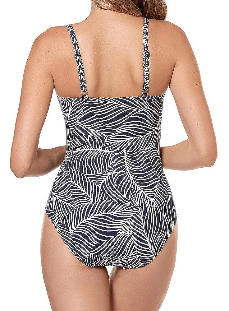 cf52348fcbcf1 Miraclesuit Women's Swimwear Lush Lanai Pin Up V-Neckline Underwire Bra  Tummy Control One Piece Swimsuit at Amazon Women's Clothing store: