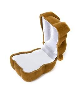 Boîte à Bijoux Bague Boucle d'Oreille Présentoir Coffret Cadeau Forme d'Ours