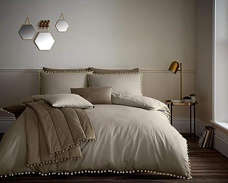 Essenza Aylin Duvet Set King approx Size 240x220 100/% Cotton Satin. White