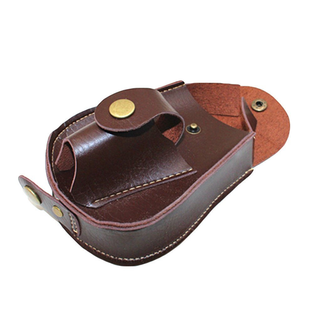 WINOMO Fondina sacchetto a cintura tattico di Pelle PU in Marrone