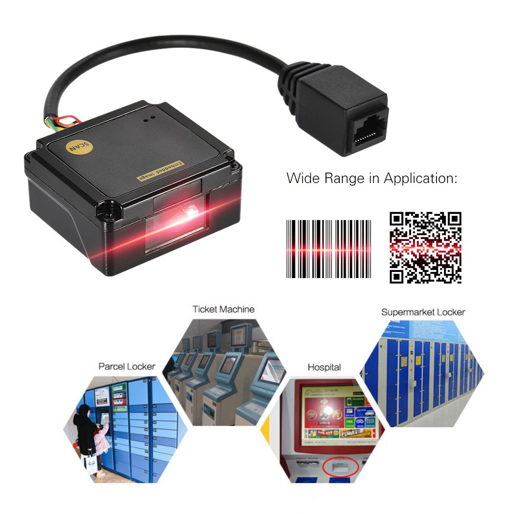 Aibecy Embedded 1D 2D Barcode Scanner Reader Module CCD Bar Code Scanner Engine Module with RS232//USB2.0 Interface
