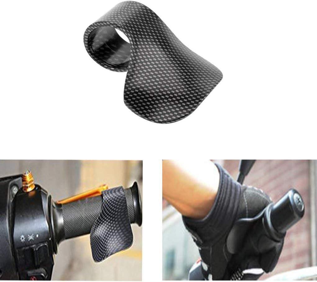 Junecat Carbon Grain Grip Moto Universelle l/ég/ère acc/él/ération Assistance Poignet R/égulateur de Vitesse Cramp Clip
