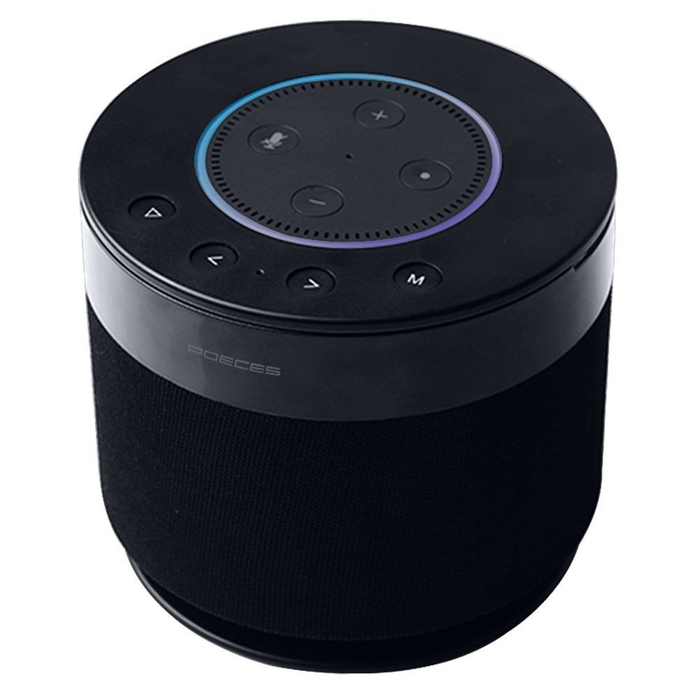 POECES Power+Cordless Portable Speaker for Dot 2nd Generation, 15W 360-degree Powerful Sound Alexa Speakers, 5200mAh Power Supply for Your Dot(Dot not Included) (DOT-FBA)