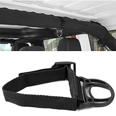 YOCTM Roll Bar Coat Hanger Clothes Hook for Jeep Wrangler JL TJ JK JLU Sports Sahara Freedom Rubicon X & Unlimited 2007-2020 2020 2020 2020 Black Interior Parts Accessories (Pack of 2) (Black): Automotive