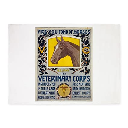 CafePress Are You Fond Horses US Army   Horst Schreck   1 Decorative Area  Rug,