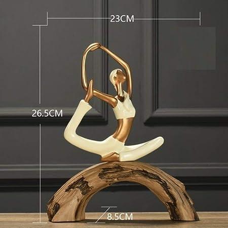 ZLAHY Estatua Nuevo Exquisito Pretty Girl Home Yoga ...