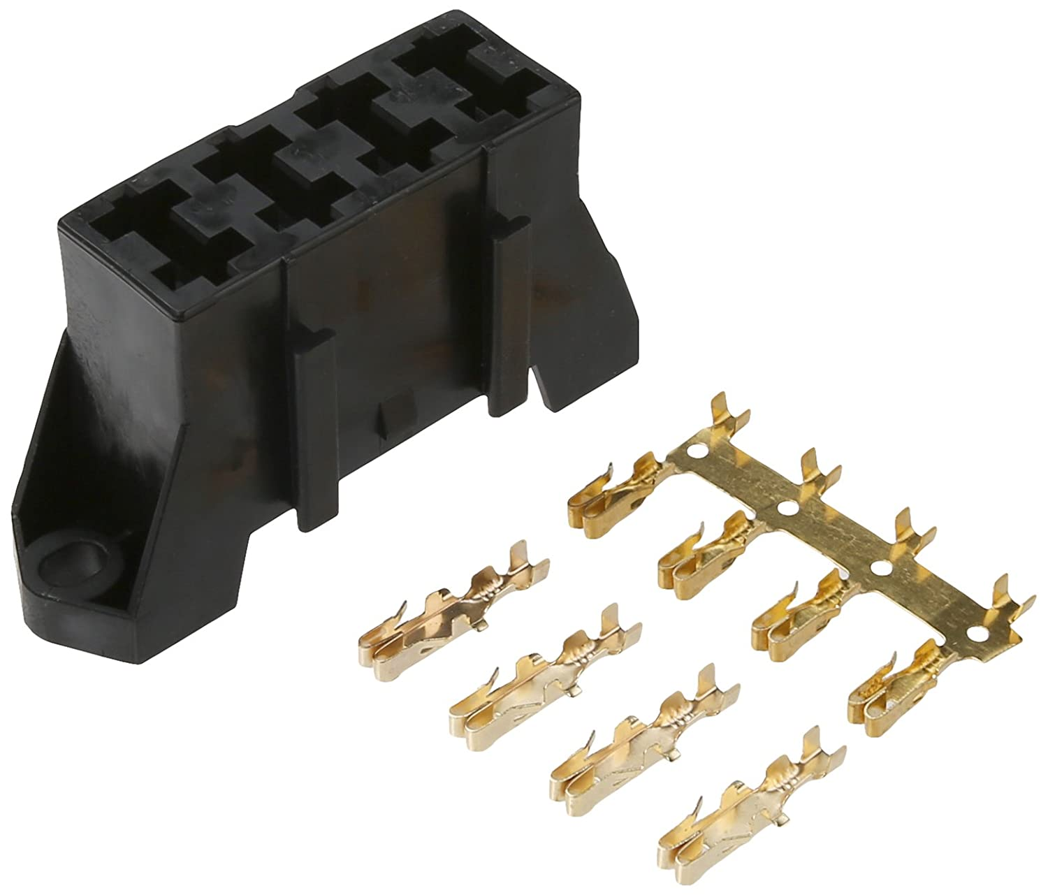 61MLvIzHm9L._SL1500_ amazon com dorman 85668 black fuse block holds 4 blade fuses 4 way fuse box at crackthecode.co