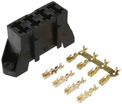 amazon com dorman 85668 black fuse block holds 4 blade fuses
