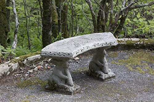 (Photograph | Concrete rabbits hold up this bench at the Land of Oz, an unusual theme park at Beech Mountain, North Carolina| Fine Art Photo Reporduction 44in x 30in)
