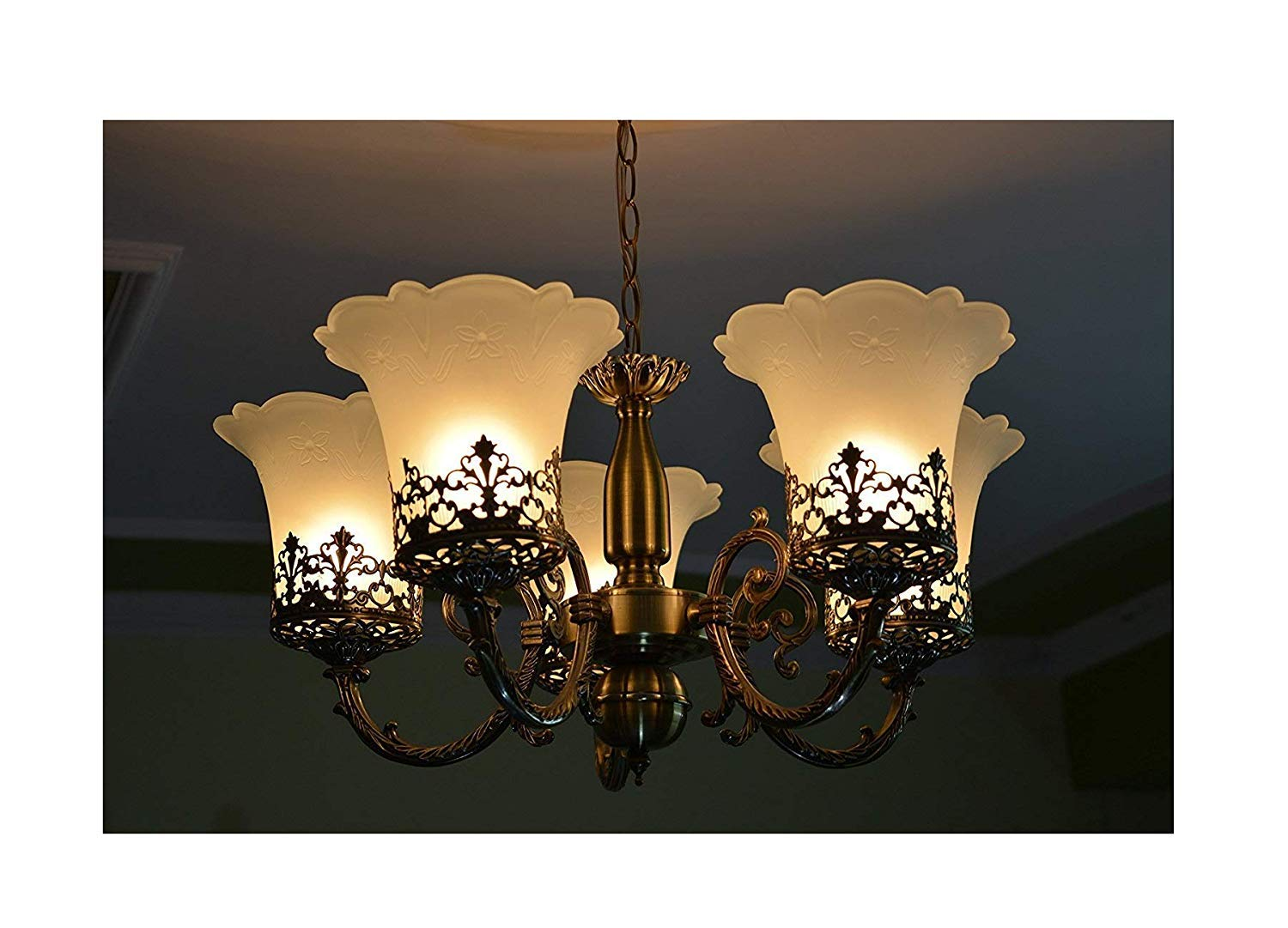 Buy fancy light stylish antique florance 5 light chandilers with heavy jhoomer gold online at low prices in india amazon in