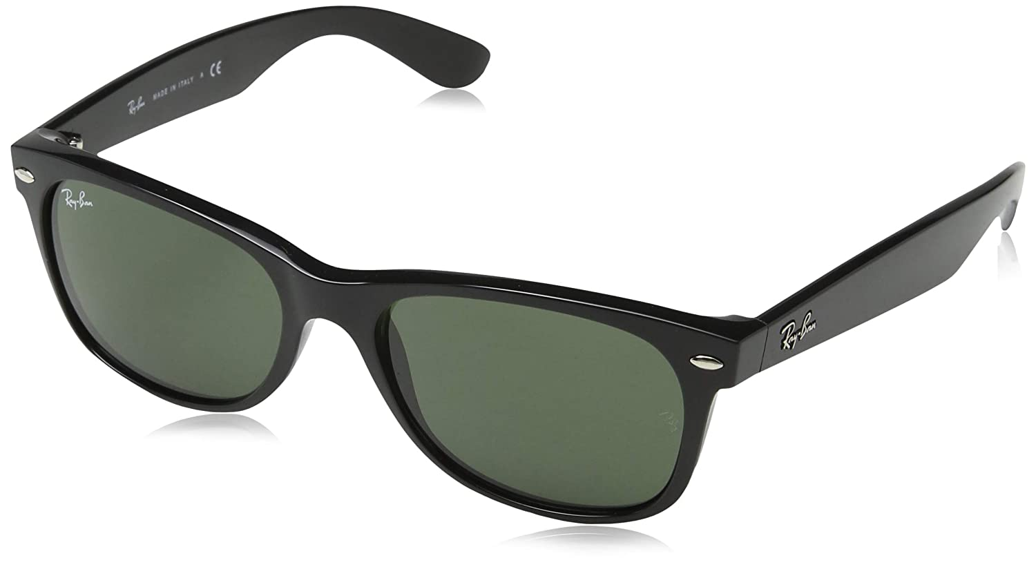 Amazon.com  Ray-Ban RB2132 - New Wayfarer Non-Polarized Sunglasses Black  Frame Crystal Green Lens Size 55  Ray-Ban  Clothing 90849ed23c