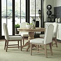 Home Styles Classic 5Piece Dining Set in White Wash Finish