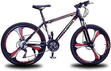 Bicicleta de Montaña Suspensión Unisex 24 Pulgadas Ruedas de 3 ...