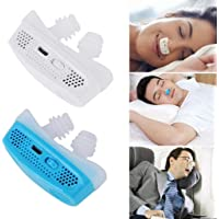 SparkLiay Micro CPAP Anti Snoring Electronic Device for Sleep Apnea Stop Snore Aid Stopper (Color : Blue)