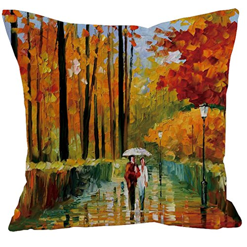Psdwets Fall Decor Cute Watercolor Leaves Pillow Covers