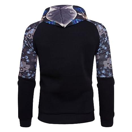 Sweat-Shirt Homme Manches Longues Pull Uni Zippé Bomber Blouson Veste Sport  Sweat à Capuche 3f82c9c96b74