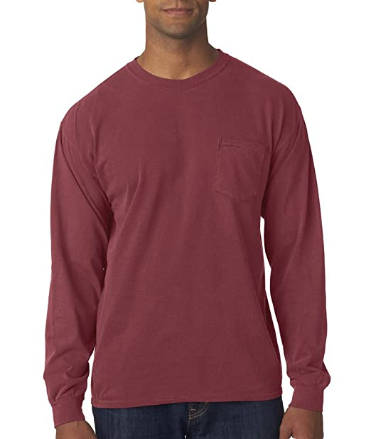 f6a6148241687 Image Unavailable. Image not available for. Color  4410 Chouinard Long  Sleeve Heavyweight Cotton Pocket Tee ...