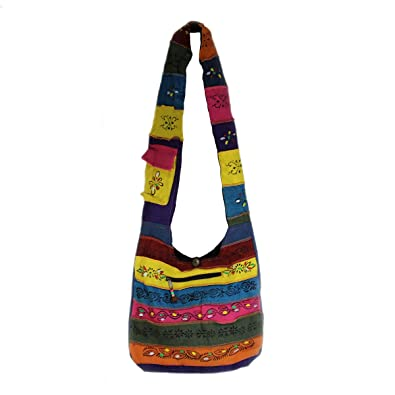 87795ca563da Amazon.com  Rising International Handcrafted Patch Hobo Bag Multi Color   Shoes