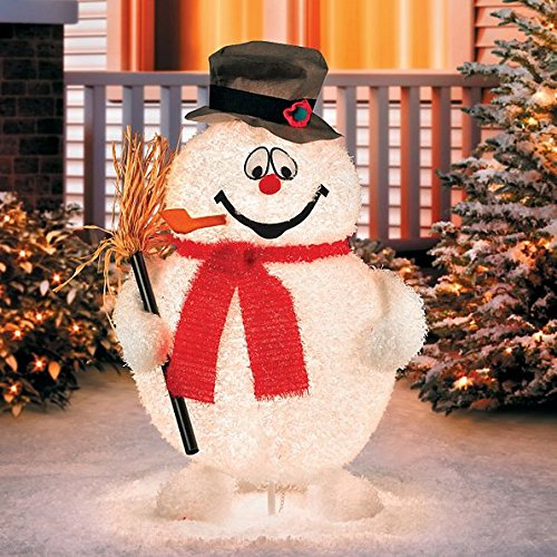 Lighted Snowman Outdoor Christmas Decoration - 6