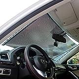 LOCEN Car Windshield Sunshades Front Windows Sun Shades Roller UV Protection for Children 58 cm