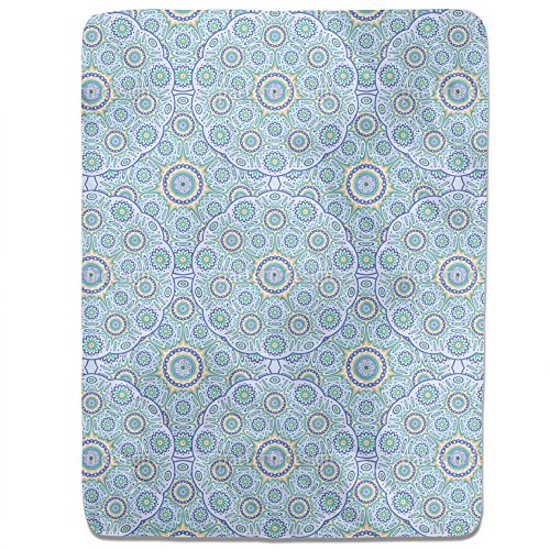 Geometric Mandala Fitted Sheet: King Luxury Microfiber, Soft, Breathable by uneekee