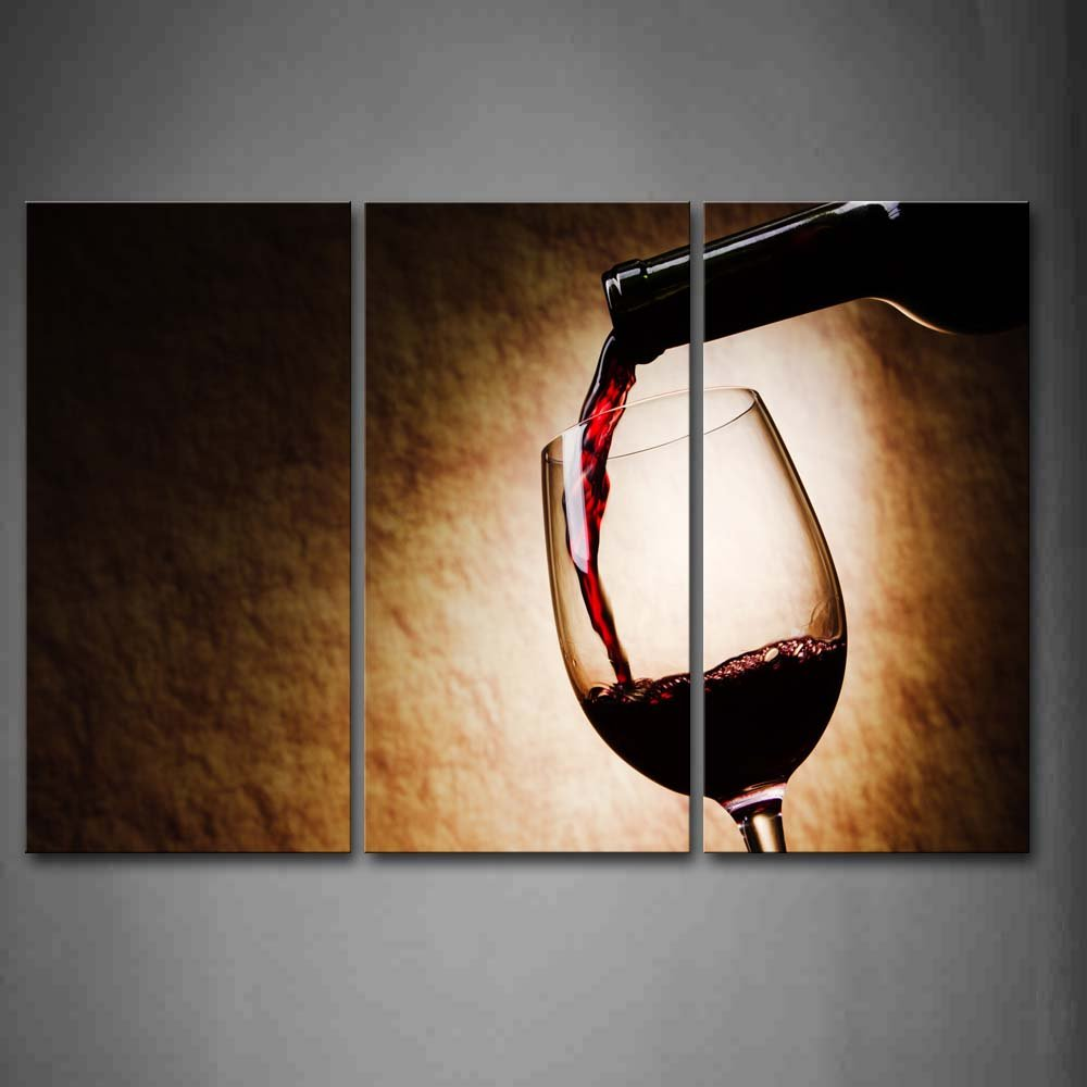 Amazon.com: A Cup Of Wine And Wine Bottle Wall Art Painting The Picture  Print On Canvas Food Pictures For Home Decor Decoration Gift: Posters U0026  Prints Part 83
