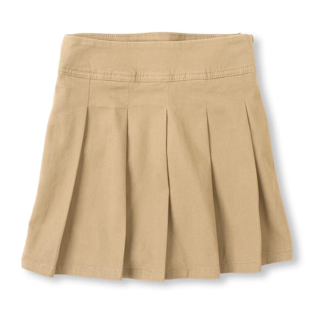 The Children's Place Big Girls' Uniform Skort, Sandy, 5