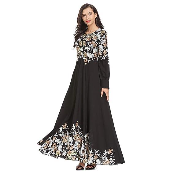 zarupeng✦‿✦ Vestidos boho musulmán para mujer Ropa suelta ...