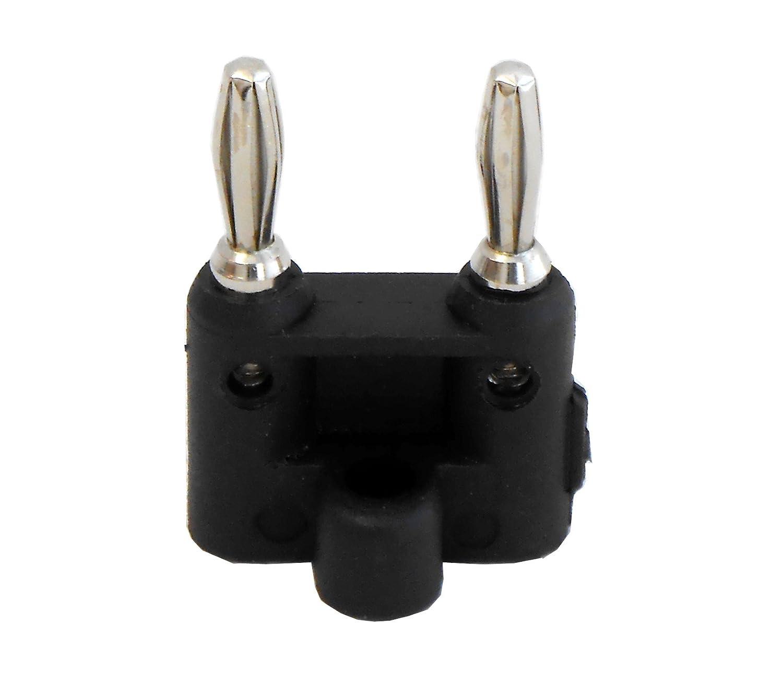 Audio2000/'S ACC3118B Dual Banana Connector Black-N,O