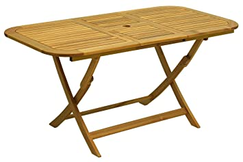 bois table pliante meubles de jardin 120x70x74: Amazon.fr ...