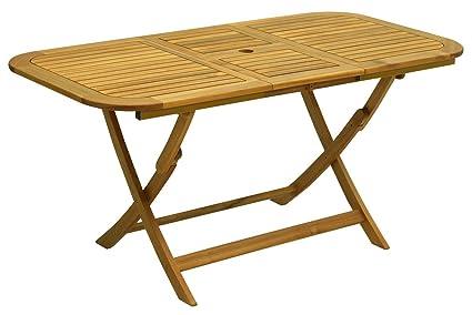 bois table pliante meubles de jardin 120x70x74: Amazon.fr ...