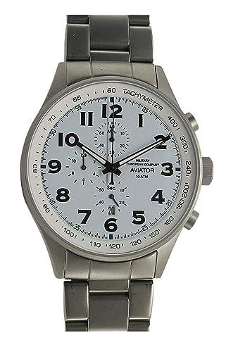 Mec Reloj Hombre Vintage cuarzo cronógrafo acero militar buceo deportivo: Amazon.es: Relojes